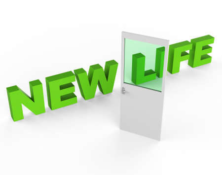 frisse start: New Life Betekenis Fresh Start en Beginnings Stockfoto