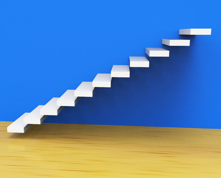 Growth Stairs Meaning Expansion Winning And Rise photo