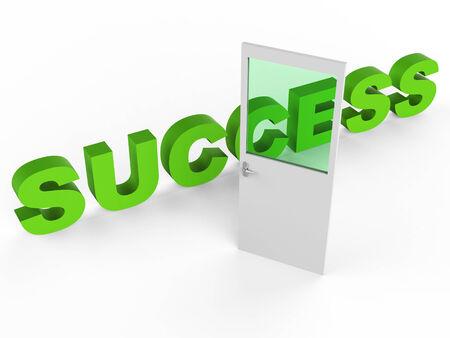 prevail: Door Success Representing Succeed Doorways And Doorway Stock Photo