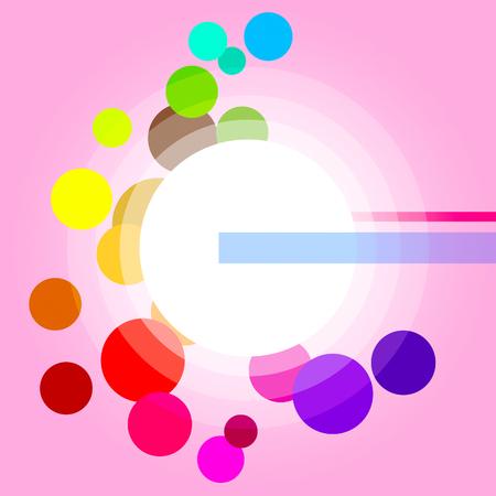 glaring: Glow Circles Showing Light Burst And Glaring