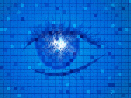 Eye Blue Showing Eyeball Eyesight And Abstract