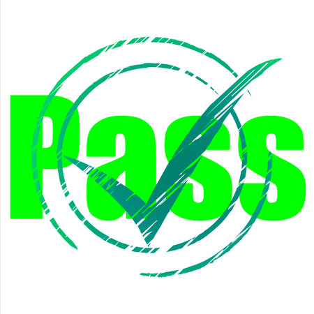 passed: Pass Tick Meaning Checkmark Passed And Mark
