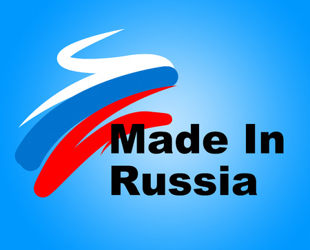 made in russia: Trade Russia Indicating Made In And Trading Stock Photo