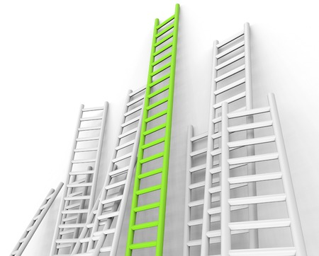 conquering: Ladders Obstacle Showing Conquering Adversity And Challenge