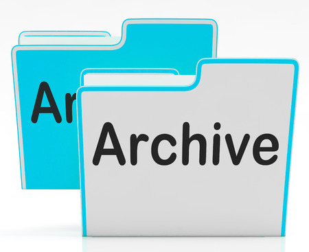 organising: Files Showing Organising Documents Filing And Paperwork Stock Photo