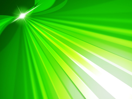 radiance: Rays Green Representing Light Burst And Radiance