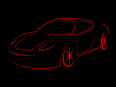 Modern Illustration Showing Concept Car And Expensive
