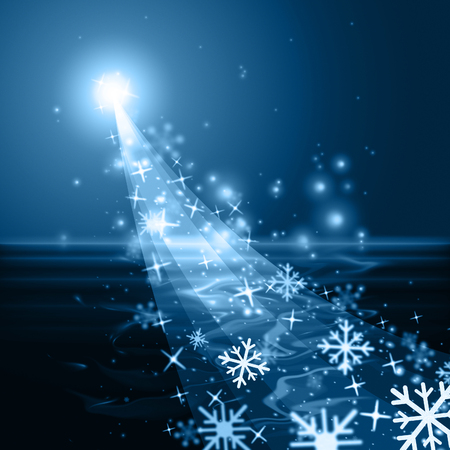 wintry: Snowflake Glow Meaning Merry Xmas And Wintry Stock Photo