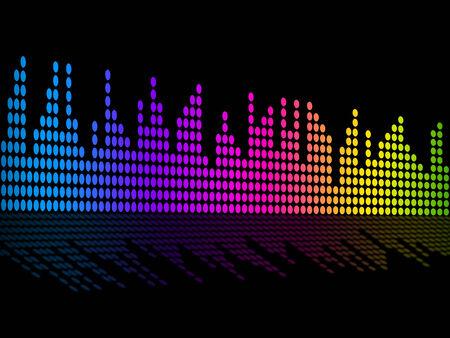 soundtrack: Digital Music Beats Background Showing Music Soundtrack Or Sound Pulse