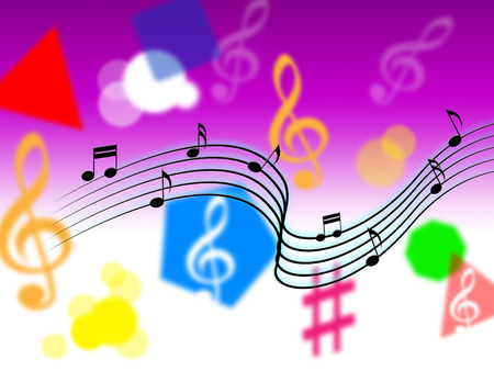 hymn: Music Background Showing Song Tune Or Instruments