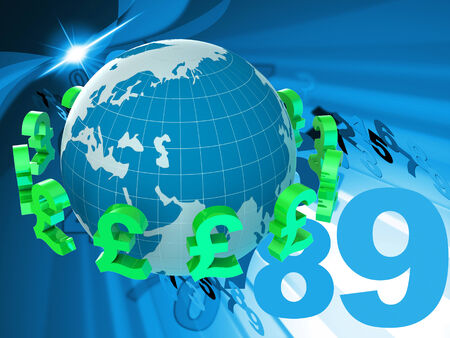 foreign currency: Forex Pounds Indicating Foreign Currency And Broker