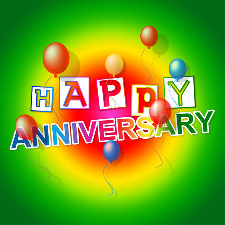 salutation: Happy Anniversary Showing Salutation Parties And Occasion