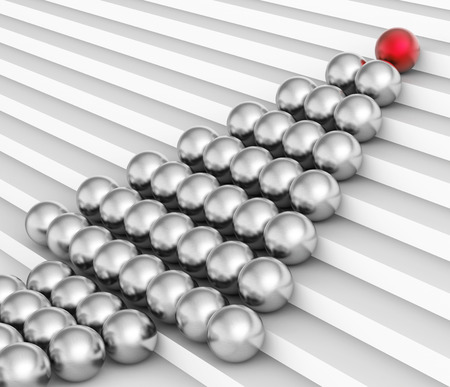 sphere of influence: Spheres Leader Representing Team Work And Leadership