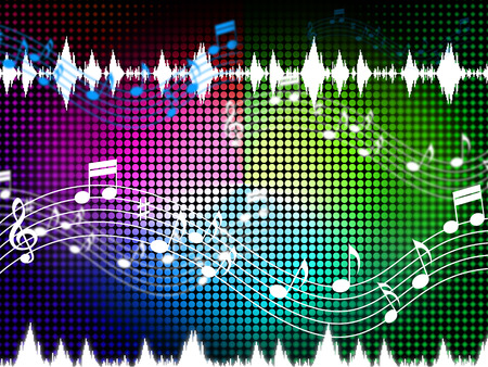 Music Color Background Showing Sounds Harmony And Singing