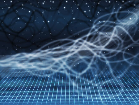 squiggles: Blue Squiggles Background Showing Starry Sky And Grid