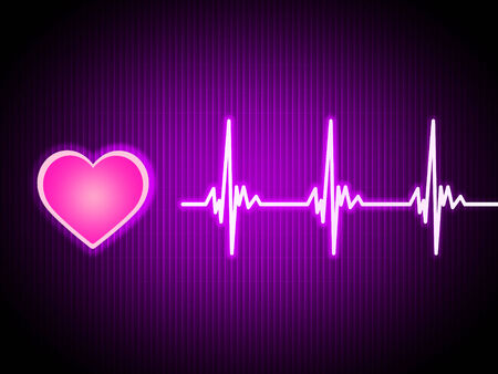 Purple Heart Background Showing Living Cardiac And Health  photo