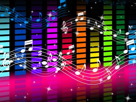 Musique de fond Signification Rock Pop ou des sons classiques Banque d'images