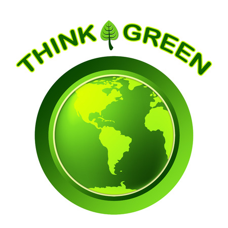 earth friendly: Think Green Meaning Earth Friendly And Recycled