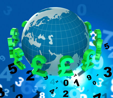 foreign currency: Forex Pounds Showing Foreign Currency And Broker