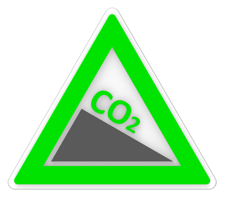 greenhouse effect: Warning Co2 Representing Greenhouse Effect And Emission