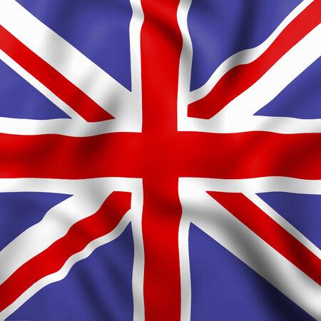 drapeau anglais: Union Jack Flag Anglais Et Repr�sentant National Banque d'images