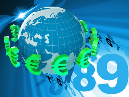 currency exchange: Euros Forex Indicating Currency Exchange And Broker Stock Photo