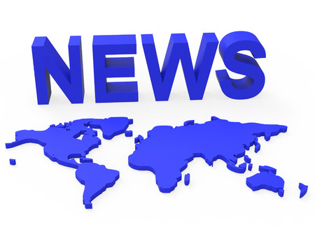 globally: News World Indicating Globally Media And Globe