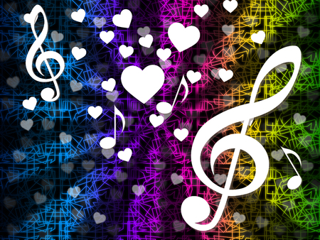 hymn: Music Background Meaning Tune Melody And Harmony  Stock Photo