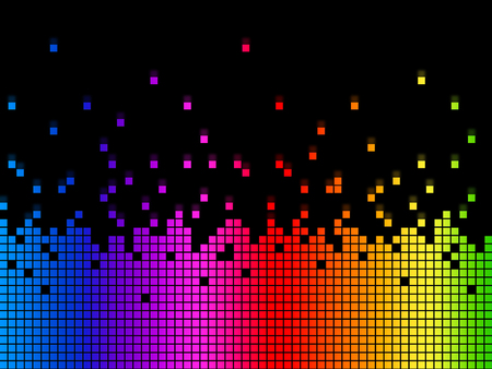 Rainbow Soundwaves Background Meaning Musical Playing Or DJ  Stock Photo