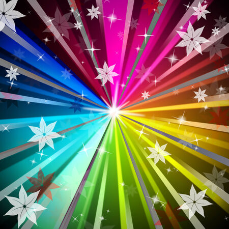 radiating: Rays Colorful Background Significato luce irradiante Fiori