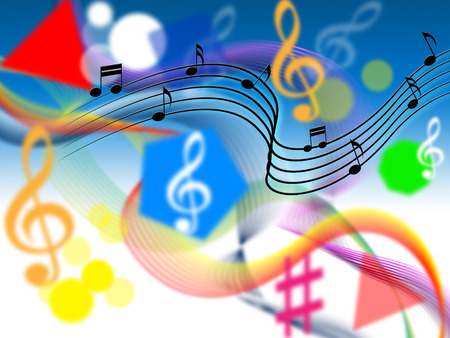 hymn: Music Background Showing Harmony Or Playing Tune  Stock Photo
