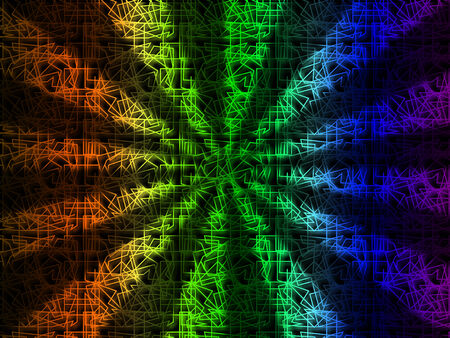 squiggles: Colorful Rays Background Showing Bright Beams And Lines  Stock Photo