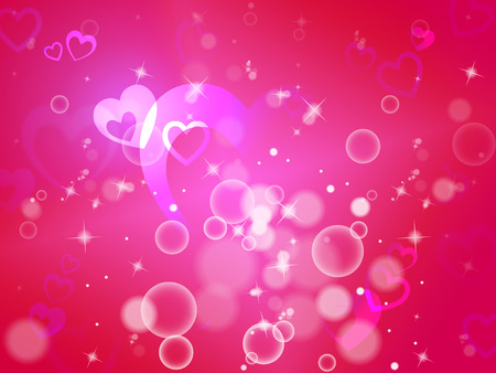 romanticism: Hearts Background Meaning Shiny Hearts Wallpaper Or Romanticism  Stock Photo