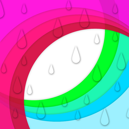sloping: Colorful Curves Background Showing Sloping Lines And Water Drops