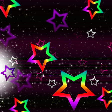 brightness: Stars Space Background Showing Heavenly Bodies And Brightness  Stock Photo