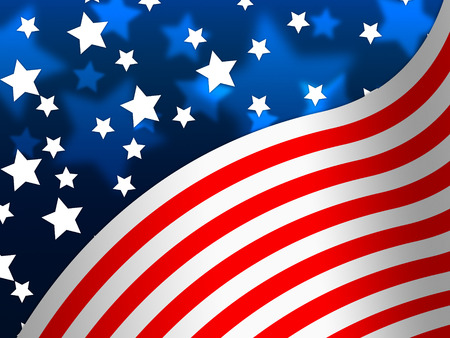 national identity: American Flag Banner Meaning States America And Stars