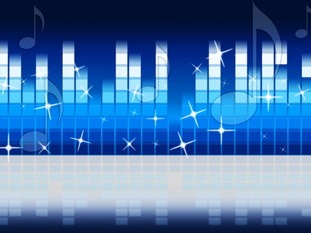 hymn: Blue Music Background Showing Melody Rock Or Tune  Stock Photo