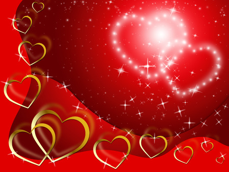 with fondness: Twinkling Hearts Background Showing Lover And Fondness