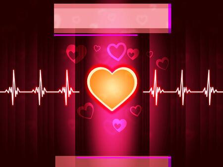 hiebe: Red Heart Hintergrund zeigt Leben zu schlagen und Pillar