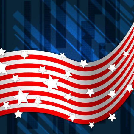 national identity: American Flag Background Showing National Pride And Identity