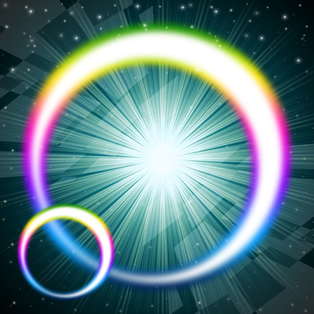 Rainbow Circles Background Meaning Colorful Round And Brilliant Star