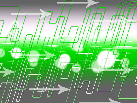 internet traffic: Green Arrows Background Meaning Internet Traffic And Data