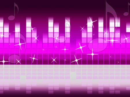hymn: Pink Music Background Meaning Singing Jazz And Piece  Stock Photo