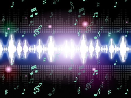 melodies: Soundwaves Background Meaning Music Singing And Melodies