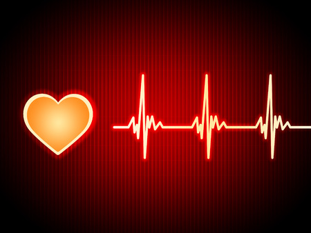 Red Heart Background Showing Pumping Blood And Alive  photo