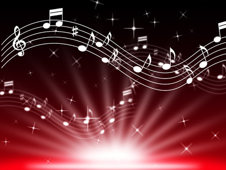 Red Music Background Meaning Musical Playing And Brightness