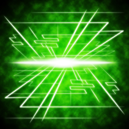 radiance: Green Brightness Background Showing Radiance And Lines