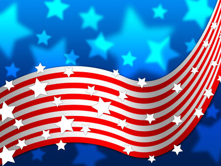 national identity: American Flag Background Showing America Stars And Nation