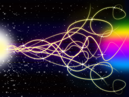 squiggles: Squiggles Background Showing Light Pattern And Stars