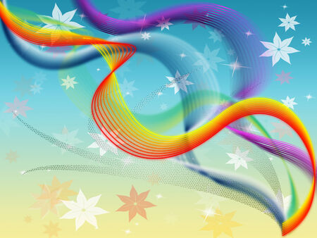 twisting: Twisting Background Meaning Colored Wavy And Flowers